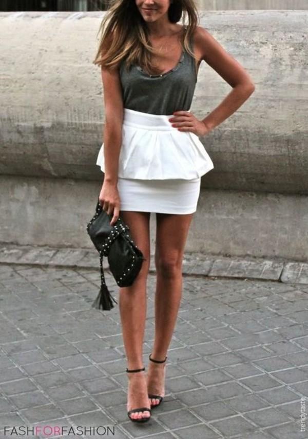 skirt white skirt