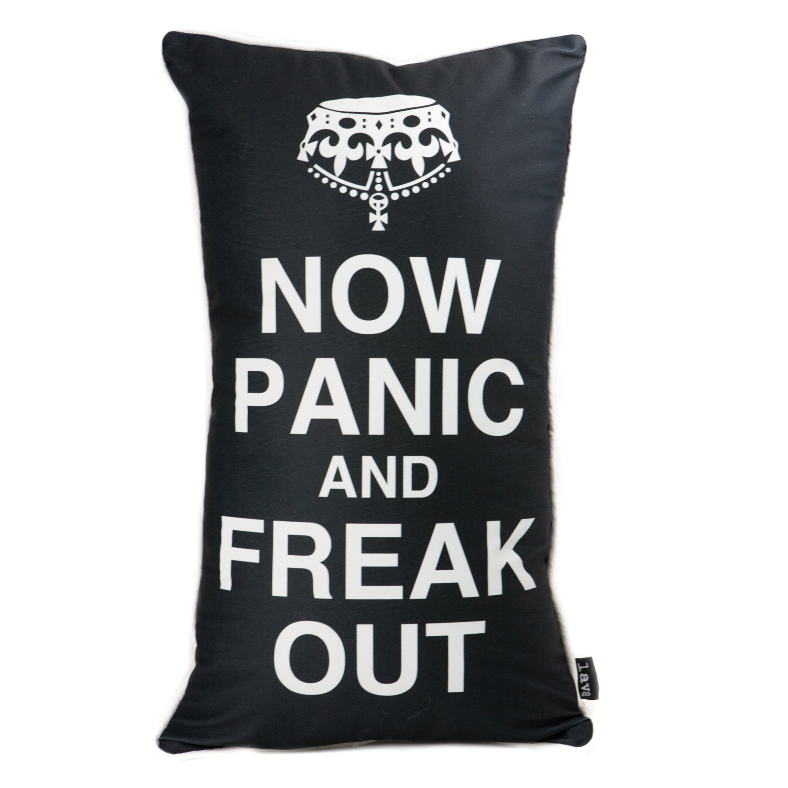 Freak Out Black 14 x 24 Pillow By Lava - Decorative Pillows at Hayneedle