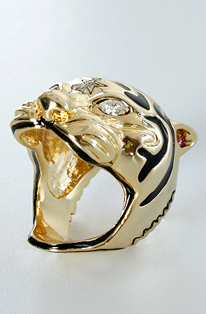 Obey The Eyes Of The Tiger II Ring in Gold -  Karmaloop.com