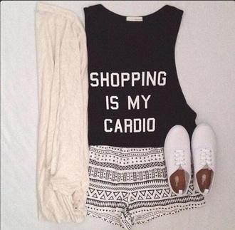t-shirt tshirt. shopping cardio shorts