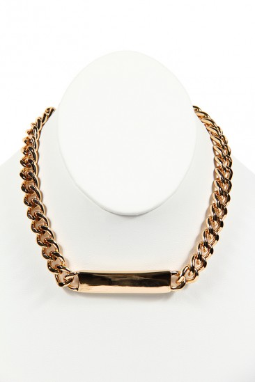 OMG THIN PLATED CHAIN NECKLACE - GOLD