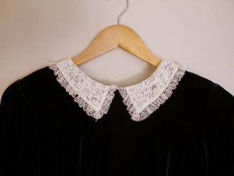 sweater white black col claudine