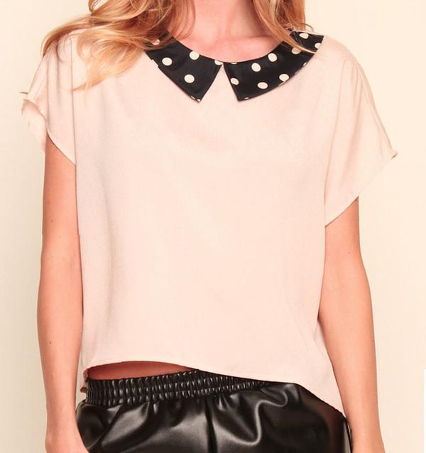 blouse clothes peach blouse cute blouse