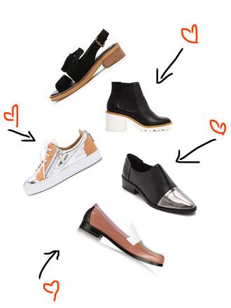 zanita blogger shoes loafers sneakers metallic shoes