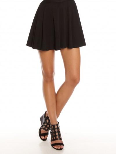 Lori Jersey Skater Skirt in Black - Glue Store
