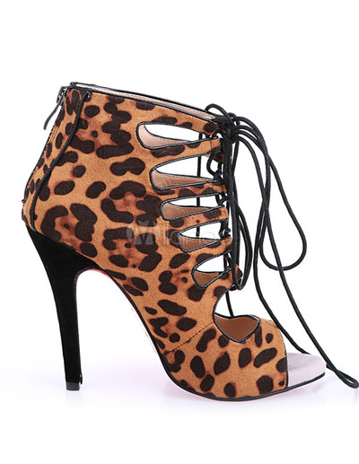 Multi Color Leopard Print Cloth Lace Up Gladiator · Humbly Glam · Online Store Powered by Storenvy