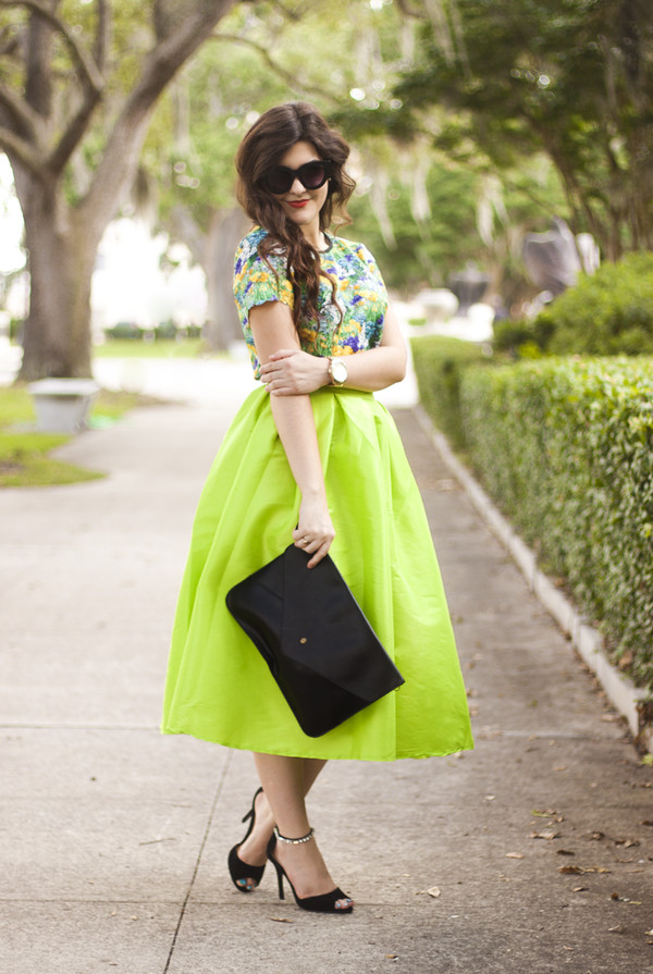 a walk in the park top skirt shoes sunglasses bag jewels