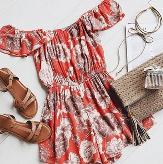 romper floral floral romper coral peach coral romper peach romper white and red orange orange romper flirty flirty romper amuse society amuse summer outfits spring spring episode