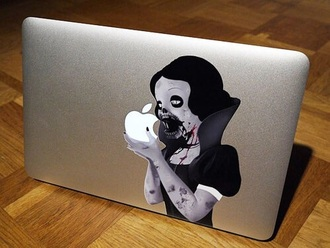 phone cover snow white zombie mac book laptop cover computer accessory halloween accessory