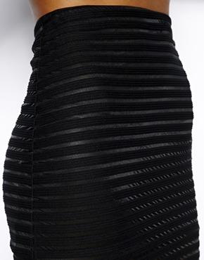 Motel | Motel Bobby Body-Conscious Skirt In Stripe Rib at ASOS