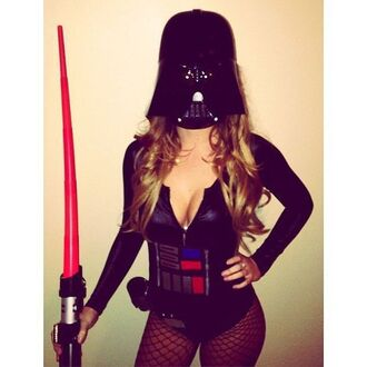 jumpsuit force halloween star wars black darth vader