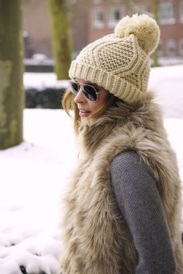 hat clothes winter hat knitted hat beige hat