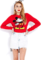 Cropped Mickey Mouse Sweater | FOREVER21 - 2000065932