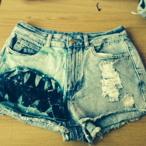 shorts jaws denim cut offs