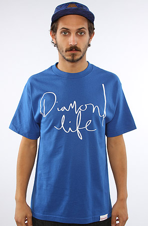 Diamond Supply Co. The Diamond Life Script Tee in Royal Blue : Karmaloop.com - Global Concrete Culture