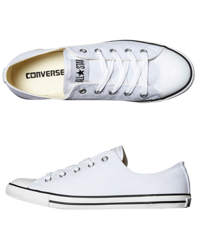 SURFSTITCH - FOOTWEAR - WOMENS FOOTWEAR - SNEAKERS - CONVERSE CHUCK TAYLOR ALL STAR DAINTY LO SHOE - WHITE
