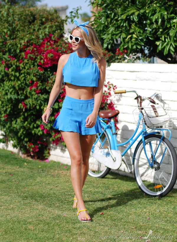 fashion addict top shorts shoes
