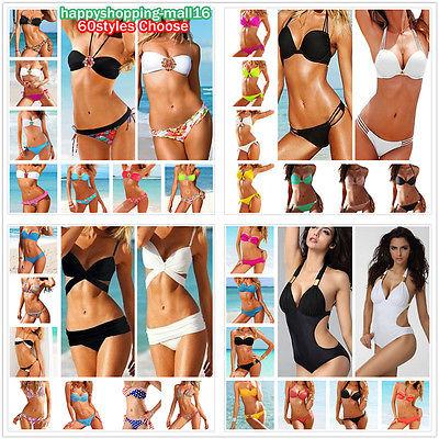 2pcs New Sexy Women Push Up Padded Beach Bikini Swimsuit Underwire Bra Swimwear | eBay
