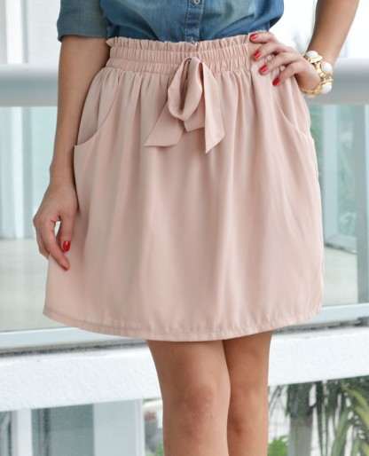 Trendy Clothing, Fashion Shoes, Women Accessories | Bow Front Skirt  | LoveShoppingMiami.com