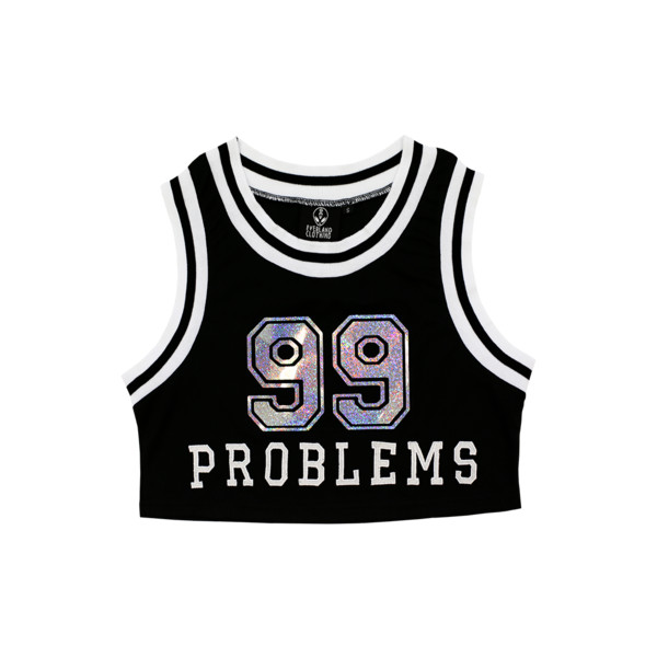 Everland Clothing 99 Problems Crop | Beginning Boutique - Polyvore