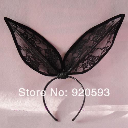 Ladygaga party lace rabbit ears hair bands headband hair accessory hair accessory-inHair Jewelry from Jewelry on Aliexpress.com