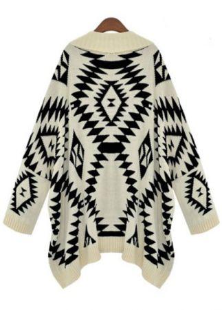 Tribal Print Cardigan-Fashion Passionates