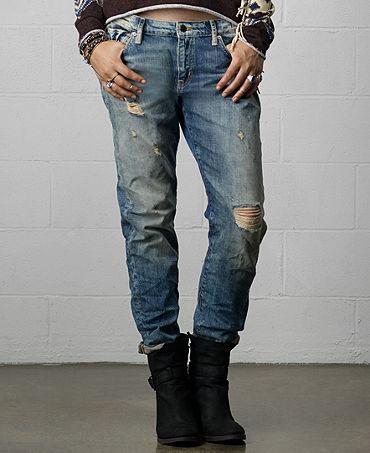 Denim & Supply Ralph Lauren Skinny Boyfriend Jeans, Oceanside Wash - Jeans - Women - Macy's