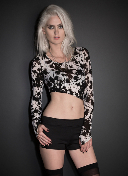 See You Monday Splatter Asymmetrical Long Sleeve Top | Clothing