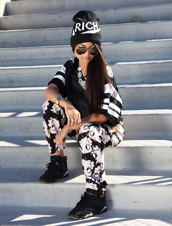 pants betty boop air jordan shirt jewels beanie nike sunglasses hat shoes joyrich
