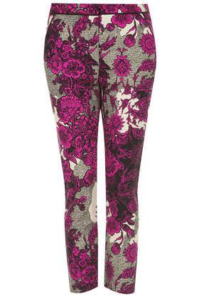 Oriental Floral Cigarette Trousers - Topshop