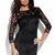 Black Little Black Dress - Black Lace Dress with Sheer | UsTrendy
