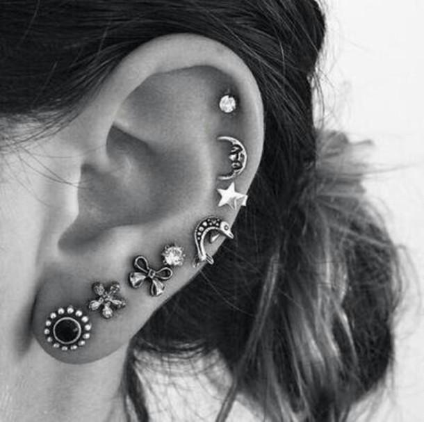 jewels earrings piercing ear piercings cute hippie www.ebonylace.net