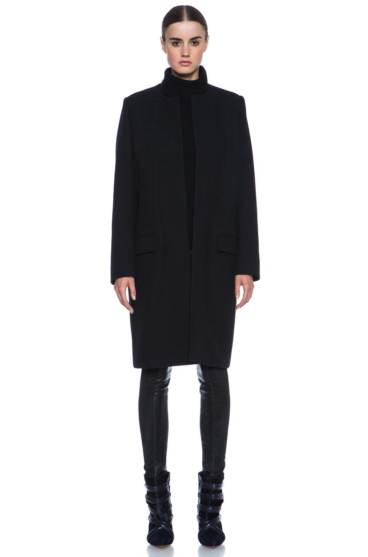Isabel Marant|Easy Manteaux Chic Wool-Blend Coat in Black