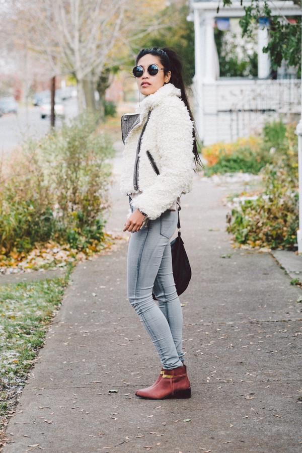 love you duh coat t-shirt jeans shoes bag