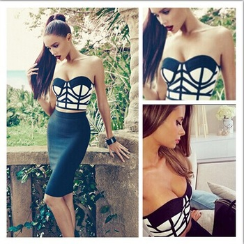 Aliexpress.com : Buy Celebrity Summer 2014 Yellow Black High Waist Hollow Mermaid  Bandage Dresses Sweet Style Sheath Bodycon Bandage Dress H556  from Reliable dress up cute boys suppliers on Lady Go Fashion Shop