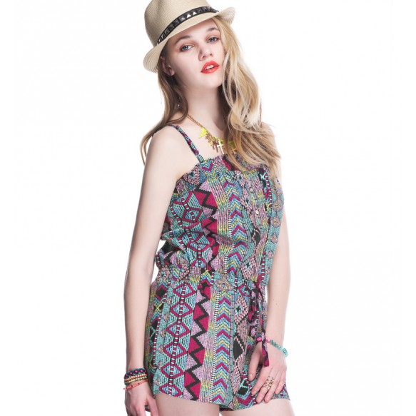Insight Ethnic Print Beach Playsuit at Style Moi
