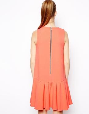ASOS | ASOS Drop Waist Frill Peplum Shift Dress at ASOS