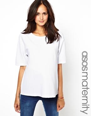 ASOS Maternity | ASOS Maternity T-Shirt in Textured Ottoman at ASOS