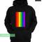 Rainbow line hoodie