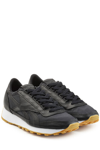 sneakers. sneakers leather black shoes