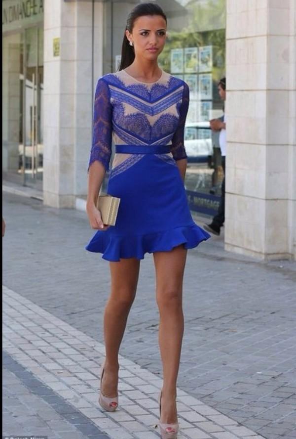 dress blue dress lace