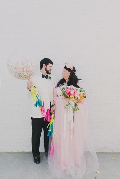 ruffled blog blogger curvy mens suit wedding dress baby pink
