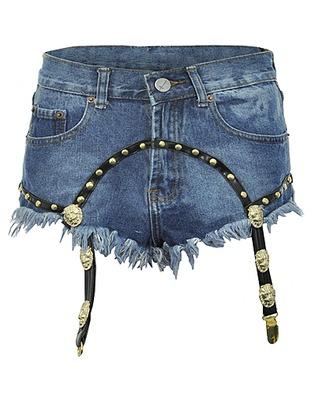 ASOS Fashion Finder   Bitching & Junkfood Suspender Kitty Denim Shorts - as seen on Jessie J