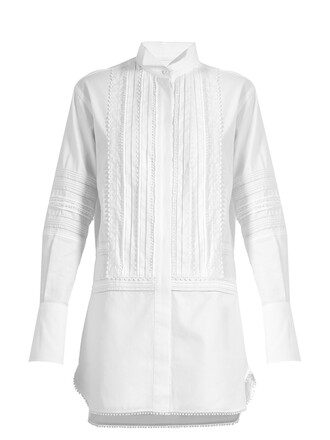 shirtdress lace cotton white dress
