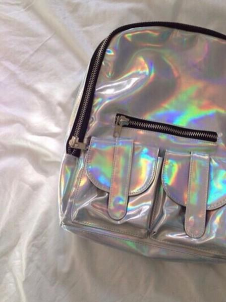 bag shiny backpack