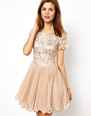 A Wear | A Wear Lace And Pleat Dress at ASOS