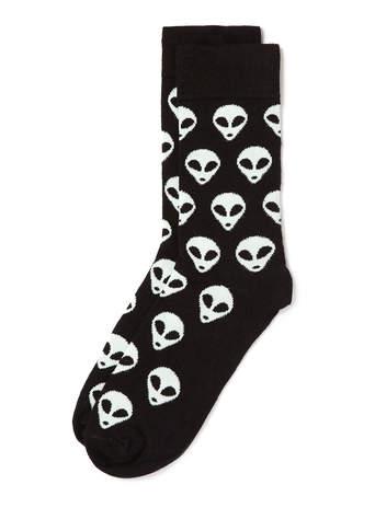 Alien Character Socks - Men's Socks  - Clothing  - TOPMAN