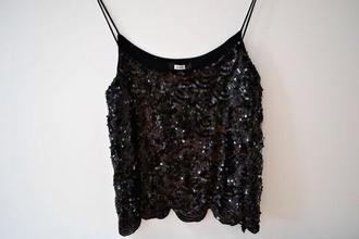 shirt strass paillettes l black gold