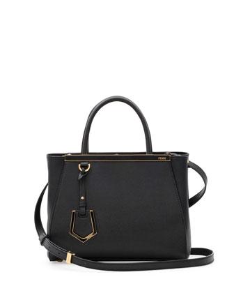 Fendi 2Jours Mini Tote Bag, Black - Neiman Marcus