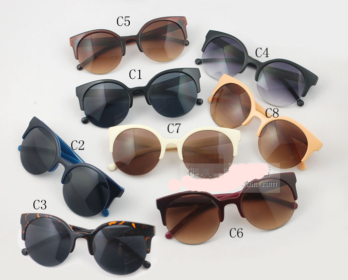 Free shipping Lucia BHM Vintage retro half glasses for men and women sun glasses cat vintage sungalsses 10pcs/lo wholesalet-in Sunglasses from Apparel & Accessories on Aliexpress.com